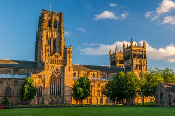 Durham Cathedral photo, The cathedral green, evening light