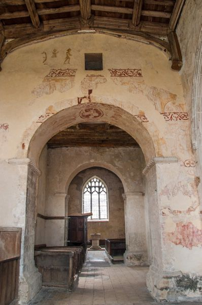 Duxford, St John's Church photo, Wall paintings over the chancel arch