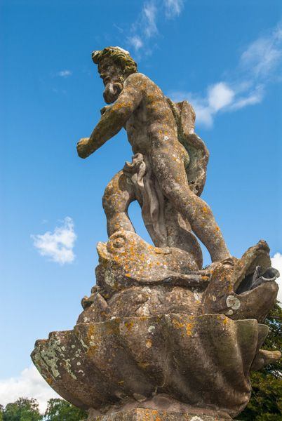 Dyrham Park photo, Statue in the gardens