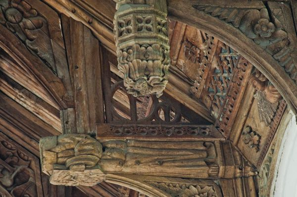 Earl Stonham, St Mary's Church photo, Roof carvings
