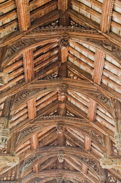 Earl Stonham, St Mary's Church photo, Hammerbeam roof 2