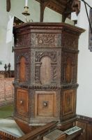 Earl Stonham, St Mary's Church, Jacobean pulpit