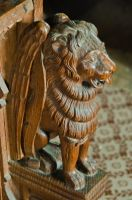 Earl Stonham, St Mary's Church, Lion carving