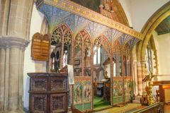 15th century painted screen