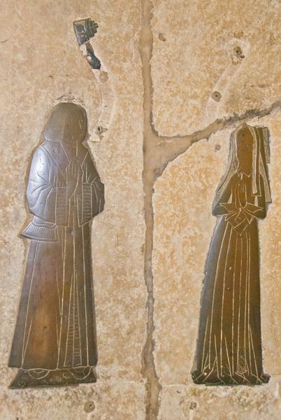 Earls Barton Saxon Church photo, Muscote memorial brasses, 1512
