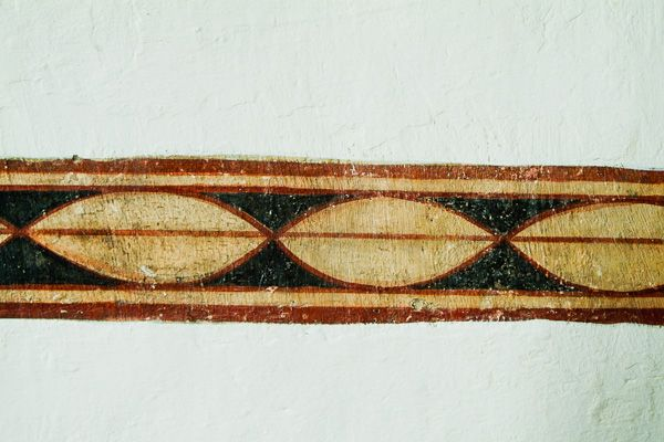 Easby Abbey photo, Wall painting horizontal strip