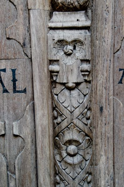East Bergholt, St Mary's Church photo, West door carving