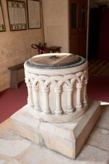 East Grafton, St Nicholas Church, The font