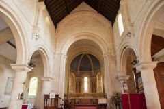 East Grafton, St Nicholas Church, Nave view