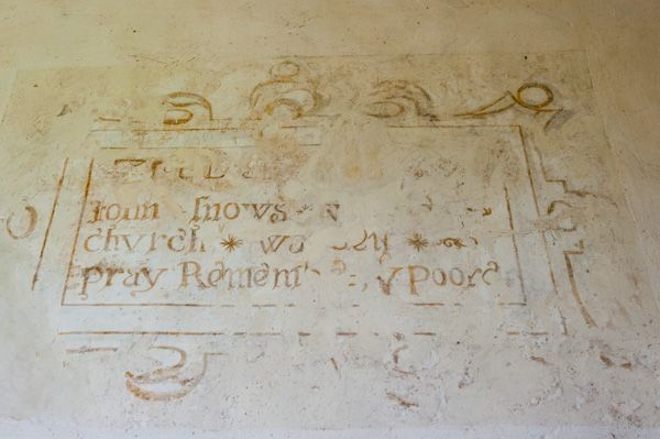 East Shefford, St Thomas' Church photo, Post-Reformation painted text