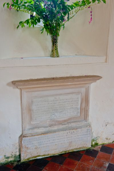 Eastleach Martin Church photo, 18th century memorial