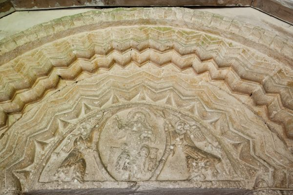 Eastleach Turville, St Andrew's Church photo, Norman tympanum