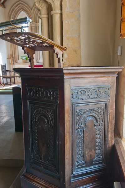 Eastleach Turville, St Andrew's Church photo, Jacobean pulpit