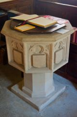 Eastleach Turville, St Andrew's Church, Octagonal font