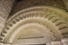 Ebrington, St Eadburgha's Church, Another view of the south doorway arch