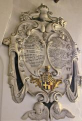 Richard Bertie memorial in the church (c) J Hannan-Briggs