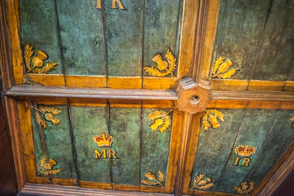 Edinburgh Castle photo, Painted ceiling in Queen Mary's Room