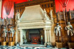 Edinburgh Castle, Fireplace in the Great Hall