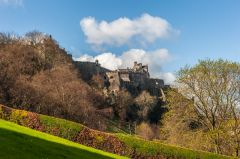 The castle from Princes Street Gardens