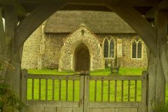 All Saints is approached through a lovely old lych gate
