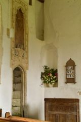 Wall paintings above the stairs to the rood loft
