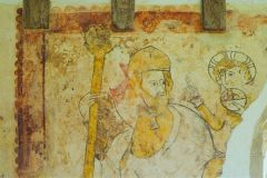 Detail of medieval wall painting