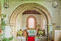 Edlingham, St John the Baptist Church, The chancel arch