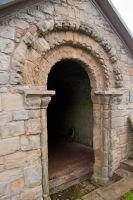 Edrom Aisle, The Romanesque doorway arch