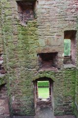 Inside the tower house ruins