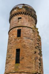 Eglinton Castle, The upper section of the corner tower