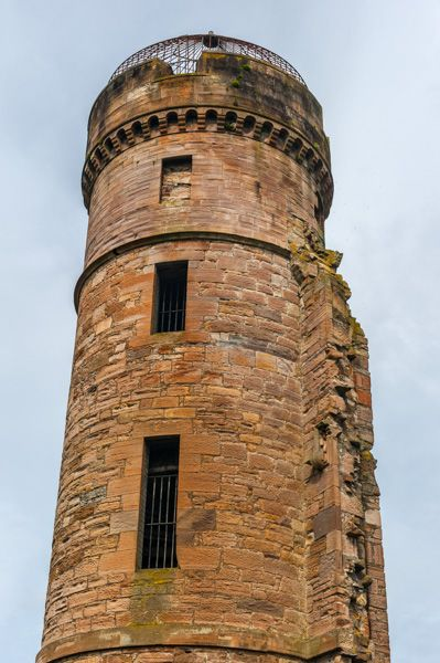 Eglinton Castle photo, The upper section of the corner tower