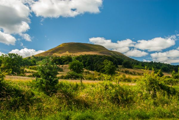 Eildon Hills photo, View from the north east
