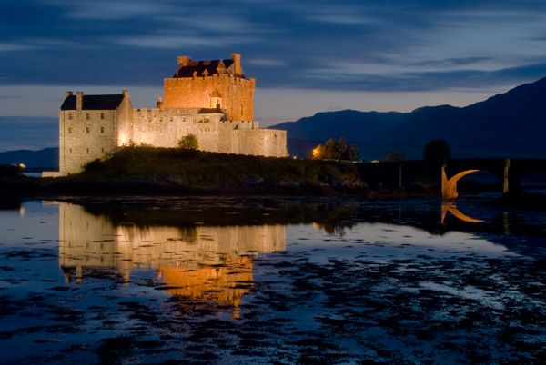 Eilean Donan Castle photo, A late evening in August