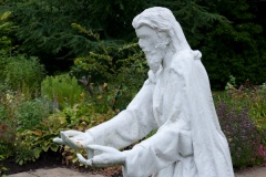 Christ statue in the Biblical Garden