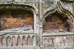 Medieval bishop tombs in the south transept