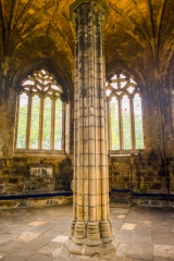 The chapter house interior and column