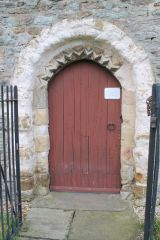 Elston Chapel, Norman doorway (c) J Hannan-Briggs