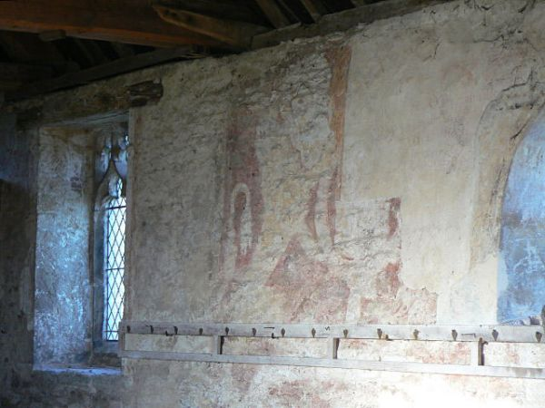 Elston Chapel photo, Medieval wall paintings (c) Alan Murray-Rust