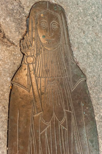 Elstow Abbey photo, Abbess Elizabeth Hervey (d. 1527) and her crozier