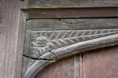 Carving detail on the entrance