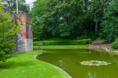 Eltham Palace, The moat and Palace wall