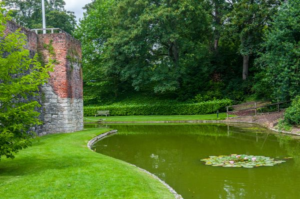 Eltham Palace photo, The moat and Palace wall