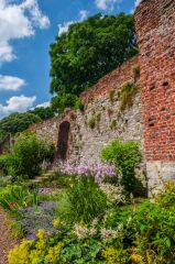Eltham Palace, Colourful gardens outside the curtain wall