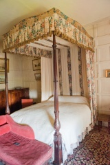 An 18th century four-poster bed