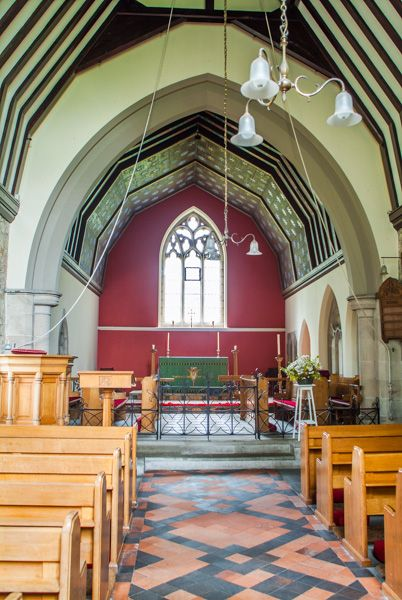 Etal photo, The chapel interior