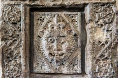 Evesham, St Lawrence's Church, Green Man carving, north wall