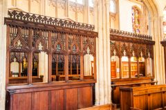 Evesham, St Lawrence's Church, The ornate parclose screen