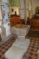 Ewhurst Green, St James the Great, 12th century font