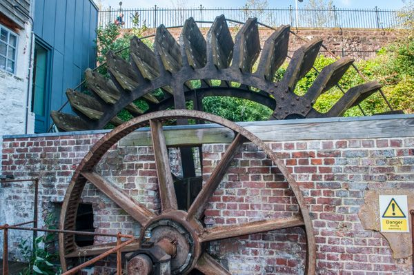 Cricklepit Mill photo, The outer waterwheel