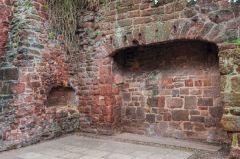 15th century fireplace and bread oven in the almshouses